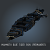 Mammoth Blue Tiger SKIN (Permanent)