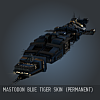 Mastodon Blue Tiger SKIN (Permanent)